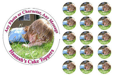 Photo Personalised Edible Icing & Wafer/Ricepaper Cake & Cupcake Toppers