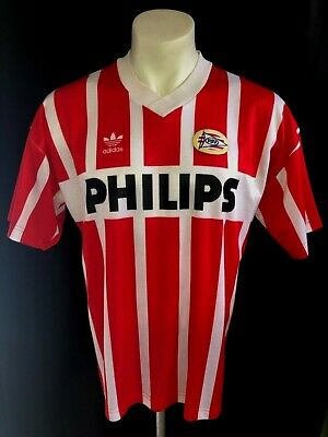 c4efe1aff L 90s vtg ADIDAS PSV EINDHOVEN SOCCER JERSEY FOOTBALL SHIRT MADE IN USA  HOLLAND