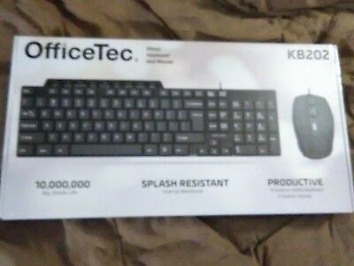 OfficeTec Wired USB Keyboard and Five-Button Mouse Combo KB202