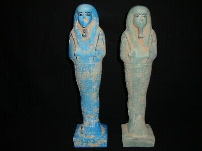 Rare Antique Ancient Egyptian EGYPT Statue LARGE INSCRIBED USHABTI 600 - 300 B.C