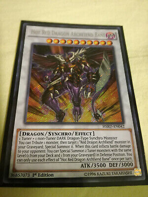 Yugioh Hot red dragon archfiend Bane HSRD 1ST ED FREE SHIPPING!!!