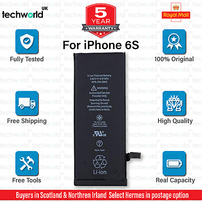 NEW Replacement Battery For Apple iPhone 6s 1715 mAh FREE DELIVERY UK SELLER