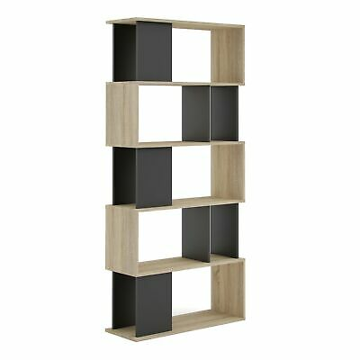 Cube Bookcase Shelving Display 5 Shelf Storage Unit Wooden Organiser Home Office