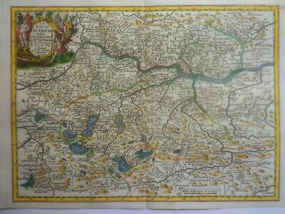 Antique Map of Upper Austria by George Le Rouge 1743