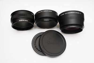 Canon TC-DC58D 1.4x Tele Converter Lens and LA DC58K Adapter for G10, G11, etc.