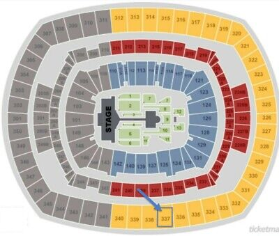 2 BTS Tour Tickets - Section 337,Row 19,Seats 1&2. May 18th @Metlife Stadium NJ