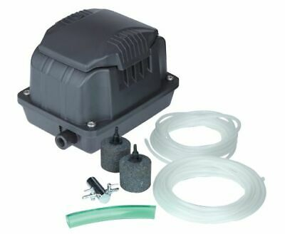 HOZELOCK POND AIR PUMP 320 LPH L//H OUTDOOR KOI FISH OXYGEN WITH 2 AIR  STONES