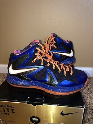 best service 7caf2 34ad5 Nike lebron 10 X Elite Superhero Size 11 Men s Basketball Shoes