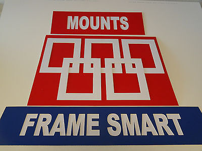 4 x WHITE PICTURE/PHOTO MOUNTS 8x6 for 6x4