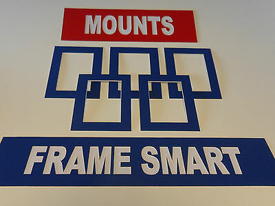 Frame Smart Pack of 4 Blue picture/photo mounts size 6x6 for 4x4 inches