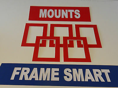 Frame Smart pack of 4 Red picture/photo mounts size 8x8 for 6x6 inches