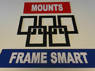 Frame Smart pack of 4 Black picture/photo mounts size 16x12 inches for A4