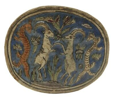 Persian Molded Relief Oval Tile