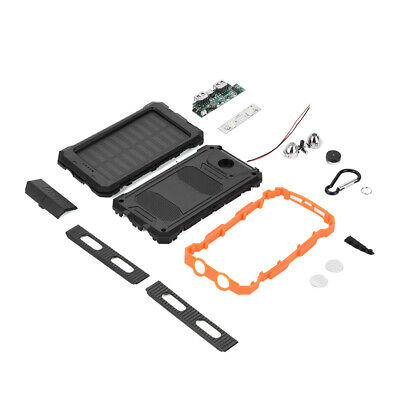 Large Capacity Waterproof Dual USB Portable Solar Charger DIY Kit For Power Bank