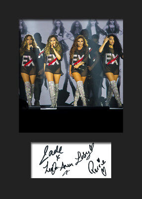 LITTLE MIX #10 Signed Photo Print A5 Mounted Photo Print - FREE DELIVERY