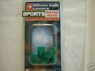 Green Silicon Wedge Bulb Covers 4xT5 4xT10 Brand New