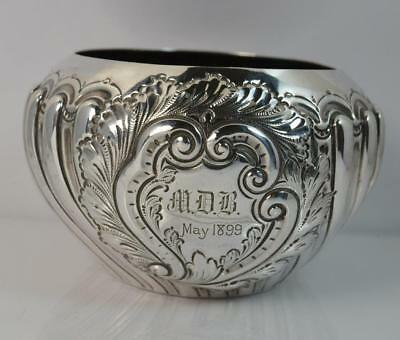 Victorian Solid Silver Bulbous Shaped Circular Design Bowl