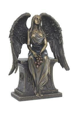 Angel With Roses Sitting On The Tombstone  - Religious Sculpture