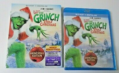Dr. Seuss' How the Grinch Stole Christmas (Blu ray, Digital HD) w/Slipcover NEW