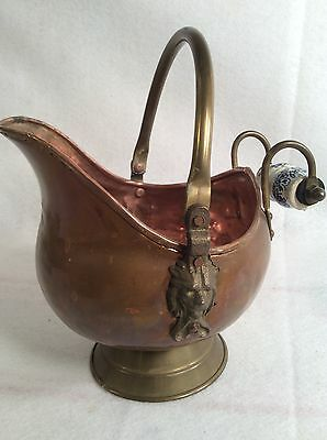 Vintage Copper/Brass British Style  Pitcher