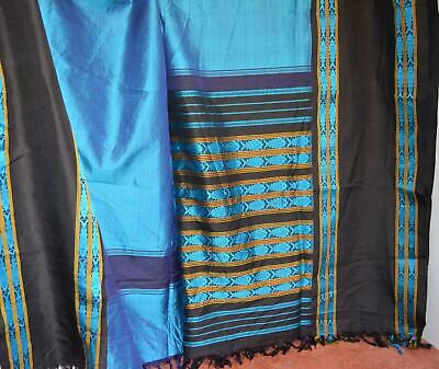 Blue Indian Fancy Silk Saree Heavy Soft Silk Saree