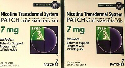 HABITROL NICOTINE TRANSDERMAL SYSTEM PATCH 7mg STEP 3 14 PATCHES NEW IN BOX!