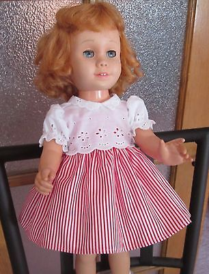 Red Peppermint Stick Dress, White Eyelet Bolero Reproduction for Chatty Cathy