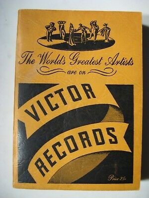 1938 Victor Records Catalog - The World's Greatest Artists