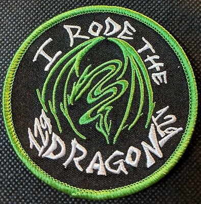 US Highway 129 Tail of the Dragon Embroidered Patch I Rode The Dragon Green