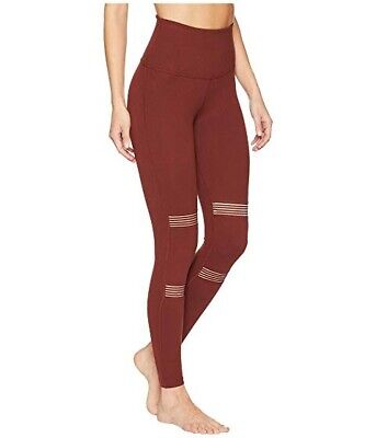 8ebf870c8091d BEYOND YOGA SMALL Spacedye Paneled High-Waisted Leggings Red Rock ...