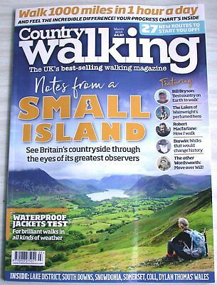 Country Walking Magazine March 2019  walks hiking weekends Bill Bryson Darwin
