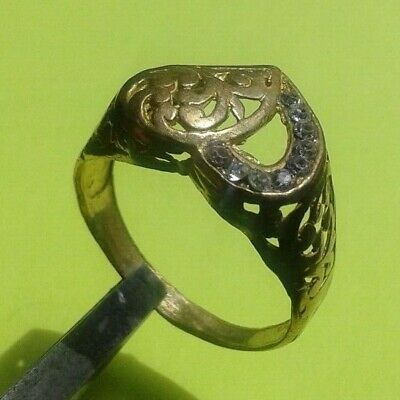 CELTIC WEDDING BAND RARE DECORATED Bronze RING