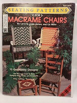 Vtg 90s Patio Lawn Chair Macrame Pattern Booklet Easy Instructions James Miller