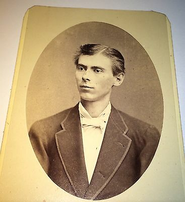Antique Victorian Southern American Dapper Young Man! New Orleans Cabinet Photo!
