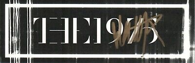 Matthew Matty Healy The 1975 REAL hand SIGNED double sided promo sticker #1 COA