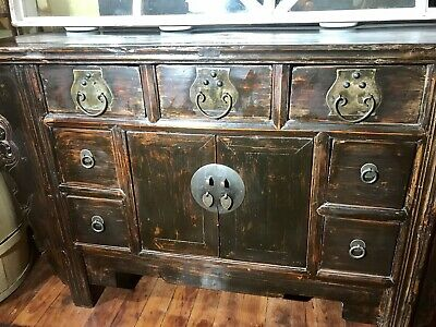 Antique Chinese Shanxi Altar Cabinet/Buffet, Cypress Wood, 1800's...