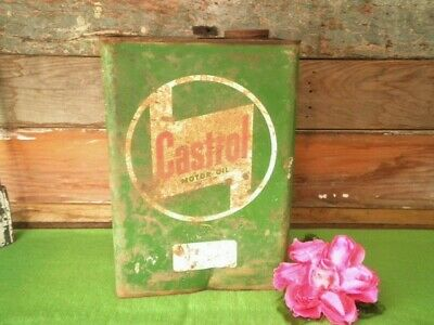 Vintage Castrol Motor Oil Can Tin 1 Gallon England By Appointment To The Queen