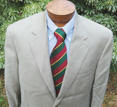 43 R Andrew Fezza Mens Blazer Sport Coat Jacket 2 Button Tan Super 100s