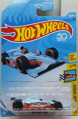 Hot Wheels INDY 500 Oval 2018 Legends of Speed 5/10 On 50th Annv Card (418)