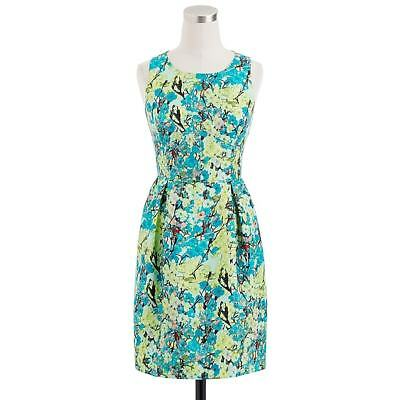 395003948bb4 J.CREW FLORAL SILK/BLEND Cocktail Dress in Yellow Size 6 NEW ...
