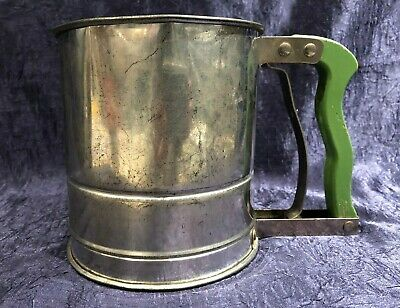 Vintage Androck; Two-Screen Hand-i-Sift Mechanical Hand-Sifter; Flour Powders