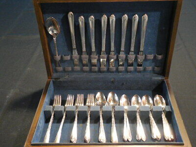 Wm Rogers & Son 1940 Exquisite Silver Plate Flatware Service for 8 IS 49 pieces