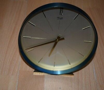1950s 1960s Mantel Clock Table Kienzle Electr Mechanical Brass Watch 50s