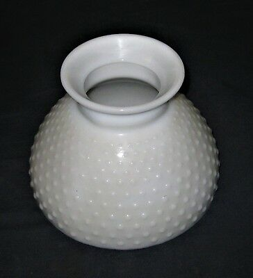 "VTG 10"" Milk Glass Hobnail lamp globe."
