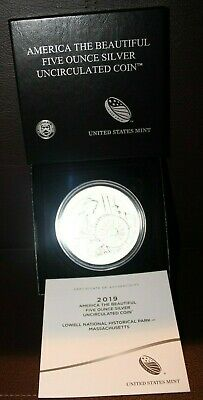 2019 Lowell National Park 5 oz Silver Uncirculated Coin