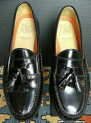 0fefd80d85719 Men s Cole Haan Pinch Grand OS Classic Black Leather Tassel Loafer Sz. 8M  MINT!