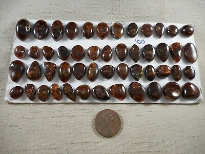 50 fire agate cabochons 282 carats mixed sized and shapes