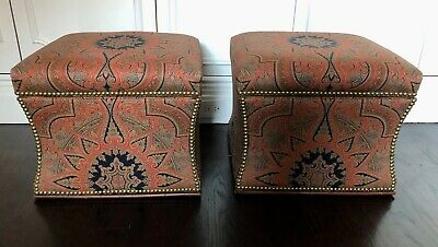Awesome Ralph Lauren Modern Hollywood Ottoman Leather And Hair On Ncnpc Chair Design For Home Ncnpcorg