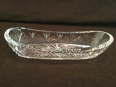 Oblong Relish Tray Waterford Crystal.