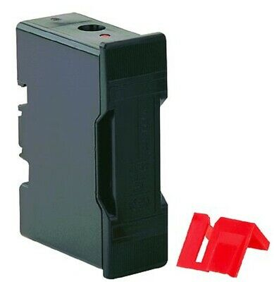Bussmann FUSE HOLDER 75.5x54x26.5mm 20A 415V Front Wired, Safe Clip, Black